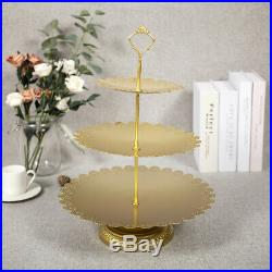 12Pcs Cake Stand Classical Round Cake Plate Tray Cookie Pedestal Display Tower