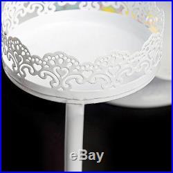 12Pcs/Set Antique Cup Cake Stand Crystal Pedestal Plate Wedding Platform Vintage