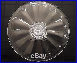 13-1/2 x 7 Beveled Edge Lead Crystal Pedestal Cake Plate 12 Petal Shape Design