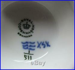 1969 Royal Copenhagen Blue Fluted Half Lace Pedestal Cake Plate #511