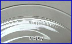 (1) Tiffany & Co Crystal GLASS Pedestal Round CAKE STAND PLATE dish MESA B