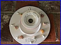 2001 Mary Engelbreit HAVE A HEART Pedestal Cake Plate Stand Server Cookie Charms