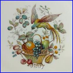3 pc Vintage LIMOGES France Pedestal Cake Dessert Serving Plate Bird Fruit