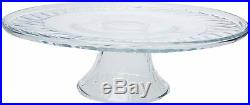 4 Pack Libbey 13 Pastelero Glass Footed Cake Plate Pedestal Cake Stand Platter