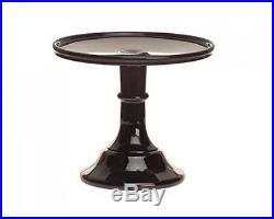 6 Pedestal Cake Plate Black Raspberry Holder Display Round Cupcake Tower Party