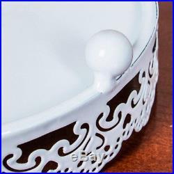 7Pcs Round Heart Cake Stand Pedestal Moroccan Dessert Holder Party Wedding Pop