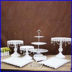 7Round Heart Cake Stand Pedestal Moroccan Dessert Holder Party Wedding Decor
