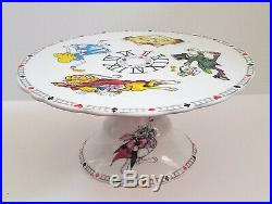 ALICE IN WONDERLAND Cafe Paul Cardew CAKE PLATE STAND Cakestand pedestal Im late