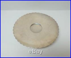 ALVIN Sterling Silver Deep 10 3/8 Pedestal Cake Plate / Dessert Tray, 810 Grams