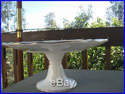 AYNSLEY Marlina PATTERN COMPOTE Pedestal Cake / Dessert Plate Server