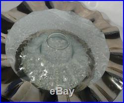 Annieglass Ruffle Series Pedestal Cake Plate Platinum