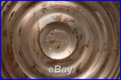 Anniversary Clear Jeannette Cake Plate Duthin Creation Sterling Silver Pedestal