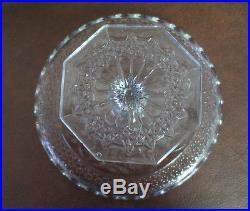 Antique American Brilliant Period Pedestal Cut/Pressed Glass Cake Plate Platte