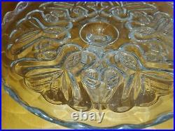 Antique Beaunot (OMN) 1899 V-in-Heart Pedestal Cake Plate 4.5×9