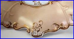 Antique Cake Stand Plate England Pedestal Pierced Ironstone WedgeWood HandPaintd