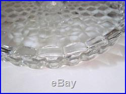 Antique Cubic Pattern EAPG Cake Plate Salver Pedestal Lipped and Edged Stunning
