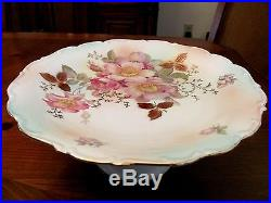 Antique Gorgeous'Schumann Arzberg' Germany'Wild Rose' Pedestal Cake Plate