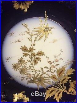 Antique Haviland LimogesFrance GDA C. H. Field Cobalt Cake Plate Pedestal Compote