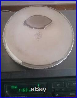 Antique INTERNATIONAL STERLING SILVER 10 Serving CAKE Plate on Low Pedestal