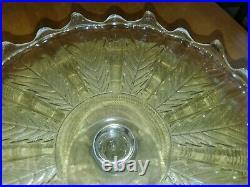 Antique Leaf on Rib Pedestal Cake Plate 10.5 No. 800 (OMN) c. 1887