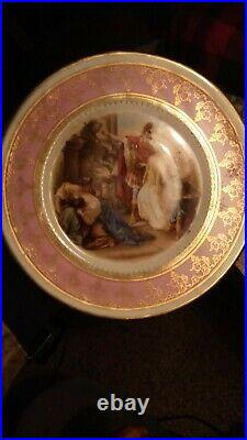 Antique Music Box Suisse langenthal Pedestal Cake Plate. As is