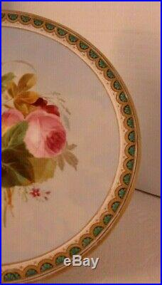 Antique Old Paris Hand Painted Pedestal Cake Plate Compote Tazza