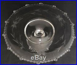 Antique Paden City Vermilion Pedestal Cake Stand Depression Glass Footed Plate