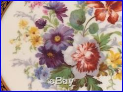 Antique Paragon Queen Mary Handpainted Artist Signed Pedestal Cake Plate 1910