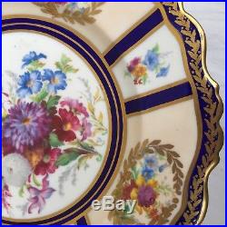 Antique Paragon Queen Mary Handpainted Pedestal Cake Compote Plate