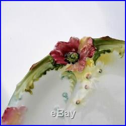 Antique Plates Carl Knoll Austria, Cosmos Pattern Cake Pedestal Stand Plate