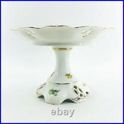 Antique Porcelain Beyer & Bock Royal Rudolstadt Prussia Pedestal Cake Plate 10
