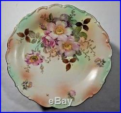Antique Schumann Arzberg Germany Wild Rose Pedestal Cake Plate