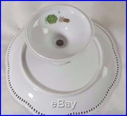 Antique Schumann Reticulated Pedestal Cake Plate