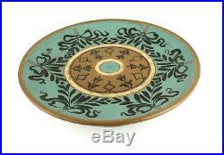 Antique Victorian Doulton Lambeth Tazza Pedestal Cake Plate Stand 1884