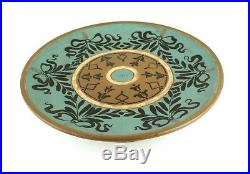 Antique Victorian Doulton Silicon Lambeth Tazza Pedestal Cake Plate Stand 1884