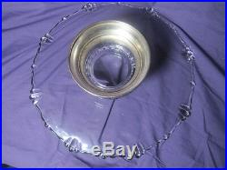 Antique/Vintage 13 1/2 x 3 1/2 Cake Plate Glass Silver Plated Pedestal Base