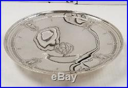 Antique Wallace Sterling Silver Pedestal Cake Plate Dish 410.8 Grams 10'' size