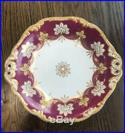 Antique Wedgwood Cake Pastry Dish Plate Stand Footed Pedestal GIlt