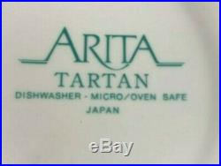 Arita TARTAN PEDESTAL CAKE PLATE 10 5/8