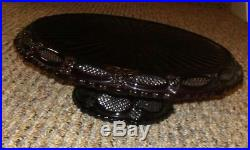 Avon 1876 Cape Cod Collection Ruby Red Pedestal Cake Plate Stand Pie Dish Bundle