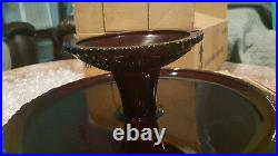 Avon 1876 Cape Cod Ruby Red Glass 11 Pedestal Cake Plate Stand New