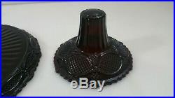Avon 1876 Cape Cod Ruby Red Glass Pedestal Cake Plate