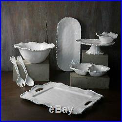 Beatriz Ball 2423 Alegria White Pedestal Cake Plate