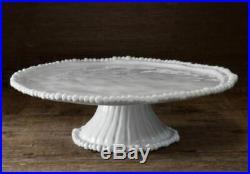Beatriz Ball Vida Alegria Pedestal Cake Plate White new in original packaging
