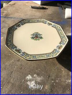 Beautiful Lenox Autumn Pedestal Cake Plate With Gold Trim