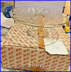 Beautiful Princess House Fantasia Pedestal Cake Plate w Dome Lid IOBs