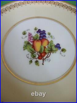 Beautiful Vintage Aynsley Fruits Pedestal Footed Compote / Cake / Dessert Plate