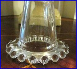 Beautiful Vtg. Imperial Candlewick Pedestal Cake Stand / Plate Bead Base