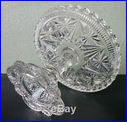 Belmont Glass Works #400 / Globe & Star Antique Eapg Pedestal Cake Plate