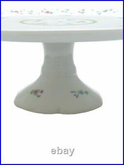 Bernardaud Limoges Artois Vert Pedestal Cake Plate Platter Versailles Shape